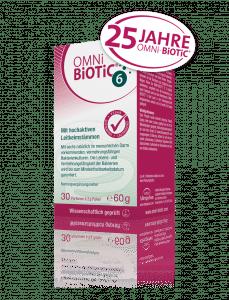 OMNi-BiOTiC® 6 Der Kraftstoff für mehr Darm-Elan - für die ganze Familie mit hochaktiven Leitkeimstämmen. Wir feiern 25 Jahre!